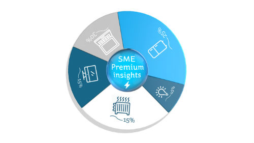See a dynamic breakdown of your energy usage using SME Premium Insights through Electric Ireland's Business Online