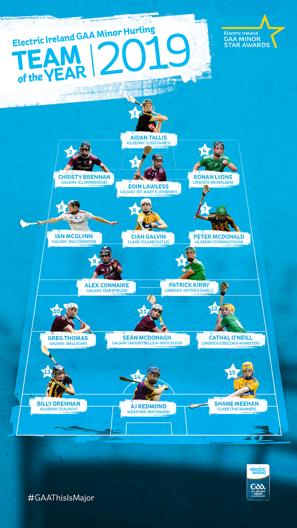 2019 Minor Hurling team of the year