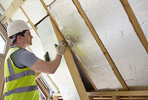 fitting roof insulation