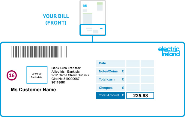Sample image of an electricity bill